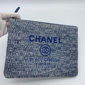 Authentic Chanel medium Deauville Ocase Clutch